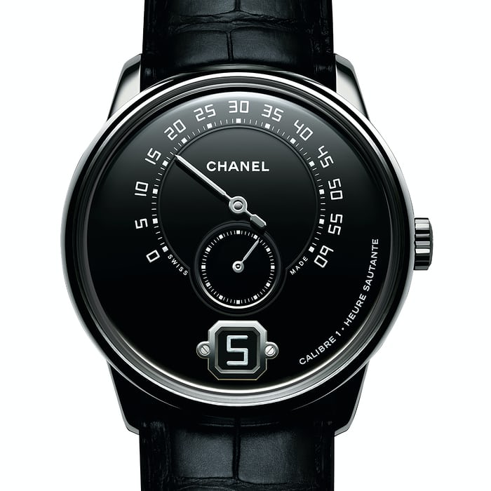 monsieur de chanel platinum black dial