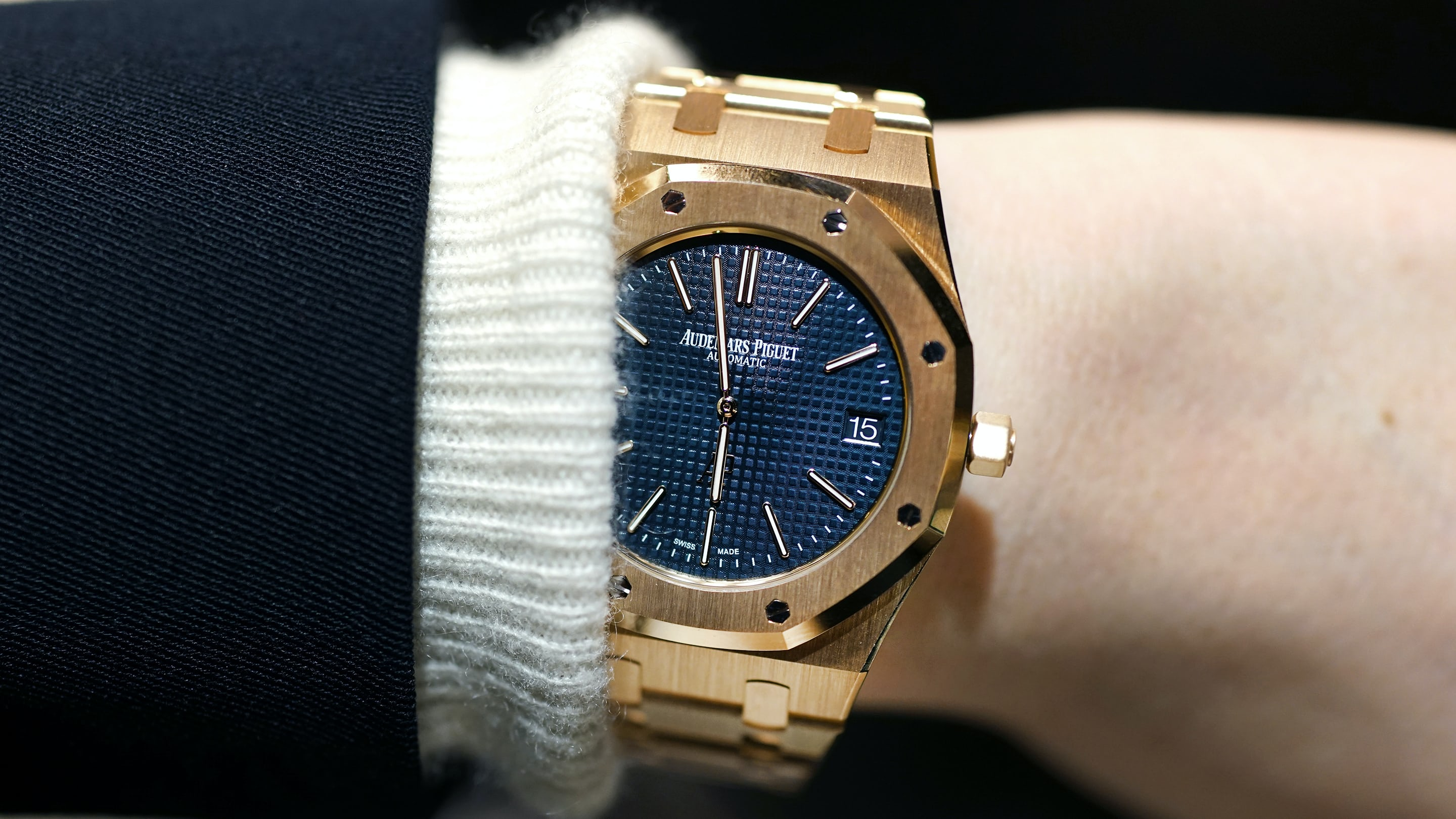 4a8449f656d1 Hands-On  The Audemars Piguet Extra-Thin  Jumbo  Royal Oak Reference 15202  In Yellow Gold - HODINKEE