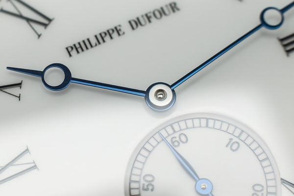 blued steel philippe dufour hands