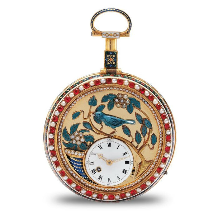 Singing Bird pocket watch, made in 1785