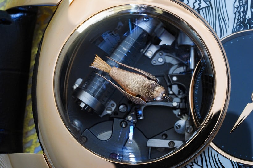 Jaquet Droz Charming Bird mechanism