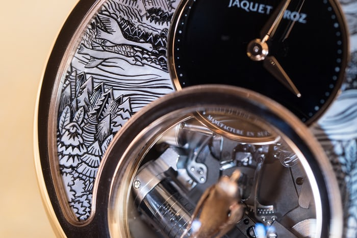 Jaquet Droz Charming Bird dial