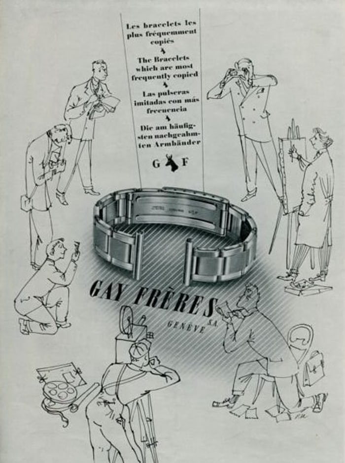 Gay Freres ad oyster bracelet
