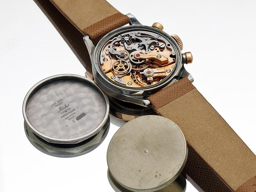 Mido Multi-Centerchrono caseback Bring a Loupe: An Elegant Mido Multi-Centerchrono, A Military-Issued Heuer Autavia 73463, An Overlooked Cartier Tank Arrondie, A Full-Set Rolex GMT, And More Bring a Loupe: An Elegant Mido Multi-Centerchrono, A Military-Issued Heuer Autavia 73463, An Overlooked Cartier Tank Arrondie, A Full-Set Rolex GMT, And More Midoc mvt