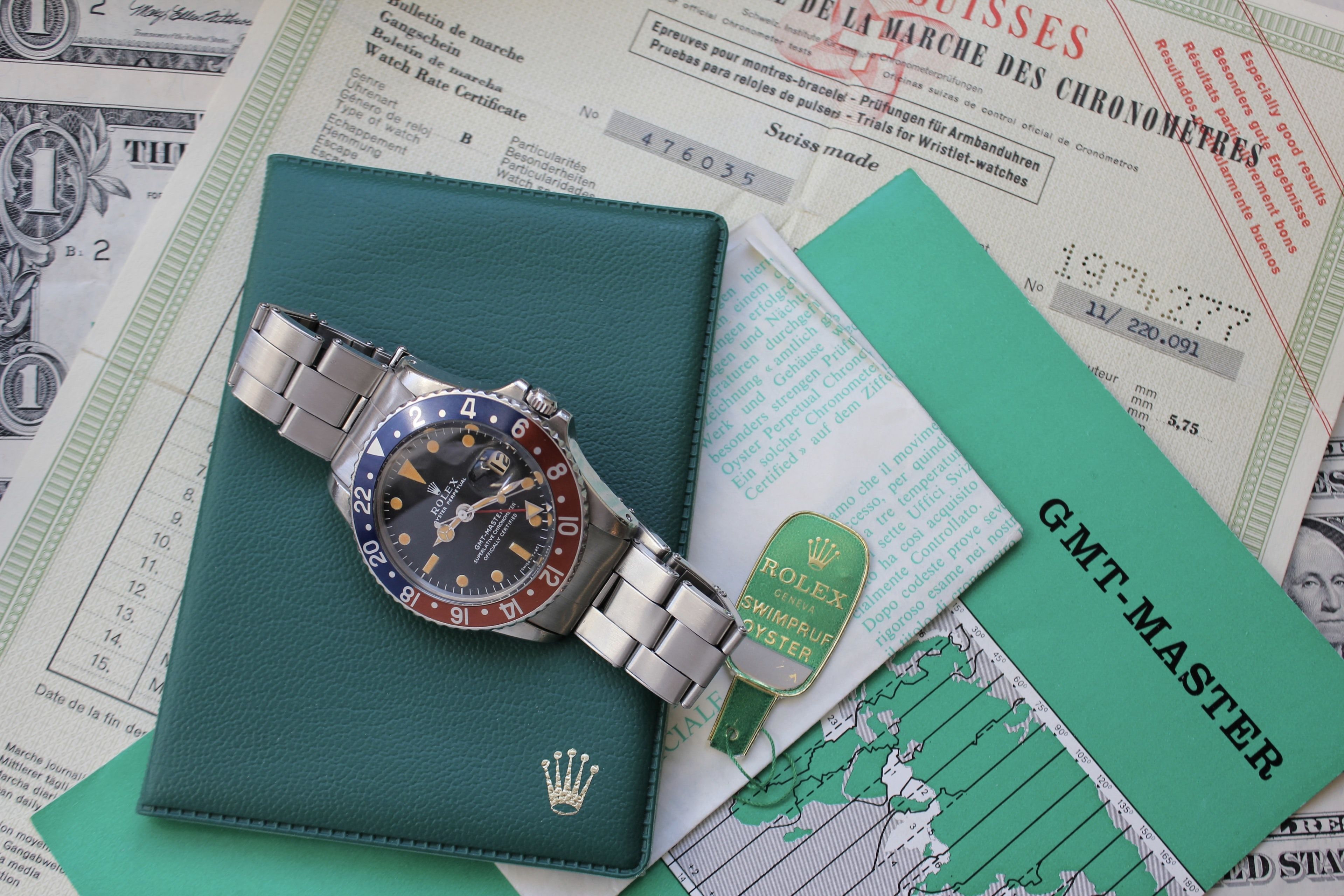 Rolex GMT-Master 1675 With Box And Papers Bring a Loupe: An Elegant Mido Multi-Centerchrono, A Military-Issued Heuer Autavia 73463, An Overlooked Cartier Tank Arrondie, A Full-Set Rolex GMT, And More Bring a Loupe: An Elegant Mido Multi-Centerchrono, A Military-Issued Heuer Autavia 73463, An Overlooked Cartier Tank Arrondie, A Full-Set Rolex GMT, And More 1675 full set