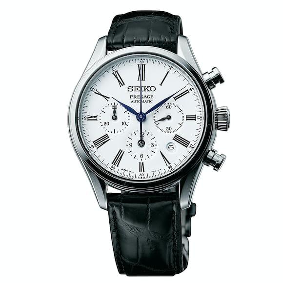 seiko presage automatic chronograph enamel