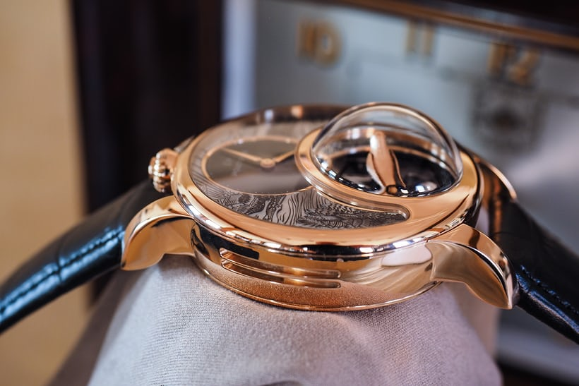 Jaquet Droz Charming Bird side view