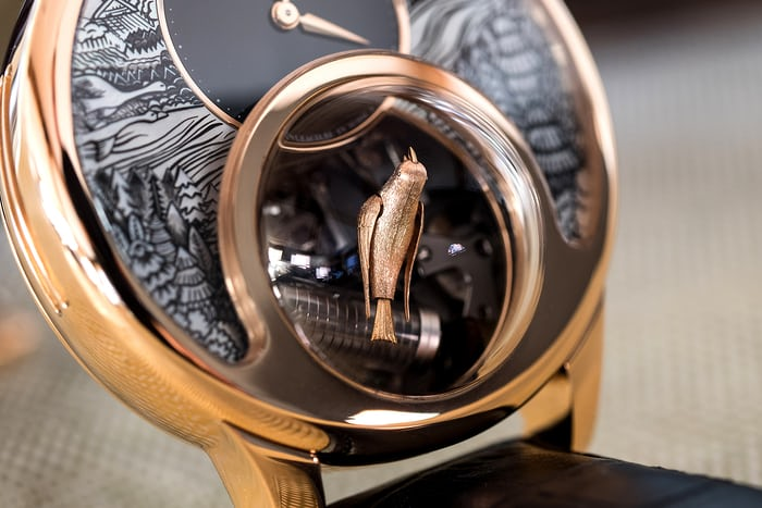 Jaquet Droz Charming Bird closeup