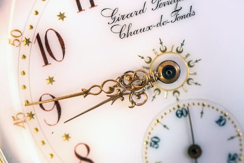 Girard-Perregaux Pocket Chronometer dial closeup
