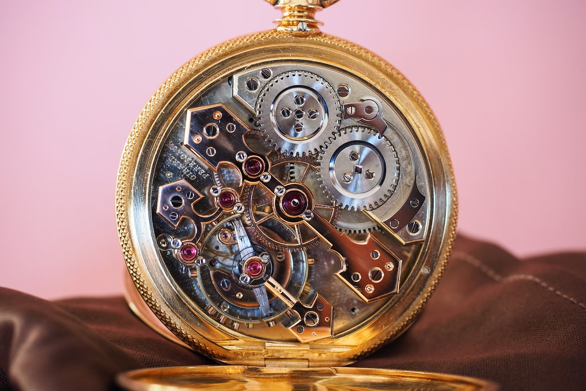 Girard-Perregaux Pocket Chronometer movement finishing