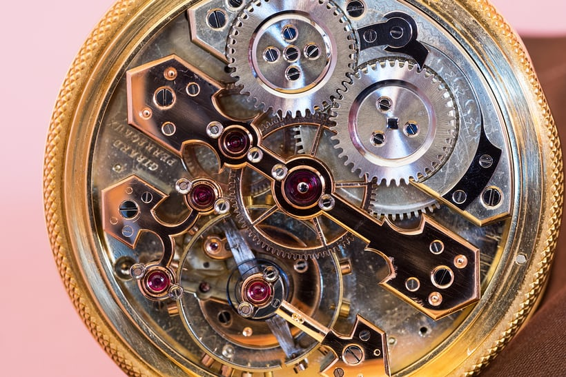 Girard-Perregaux Pocket Chronometer movement closeup