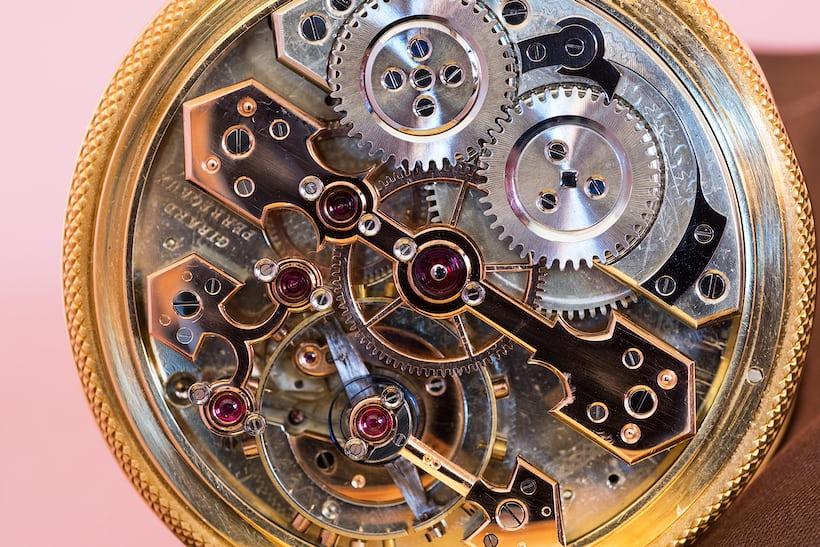 Girard-Perregaux Pocket Chronometer movement closeup