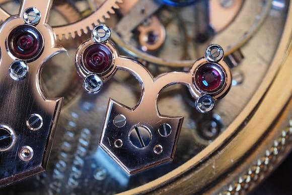 Girard-Perregaux Pocket Chronometer cock for third and escape wheels