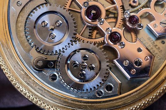 Girard-Perregaux Pocket Chronometer crown and ratchet wheels