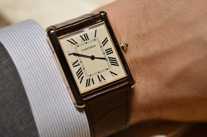 Cartier Tank Louis XL Slimline yellow gold