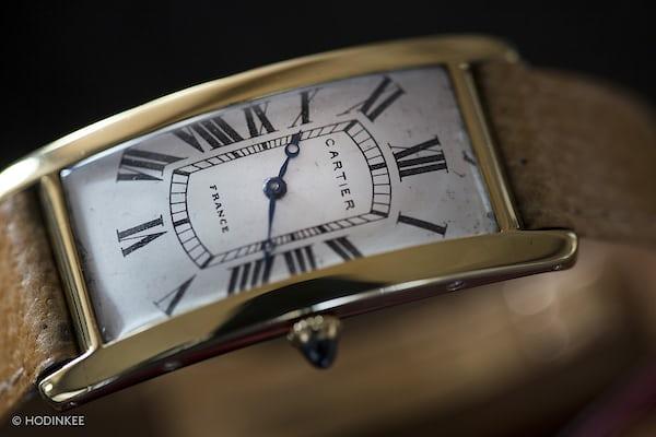 Cartier Cintrée dial