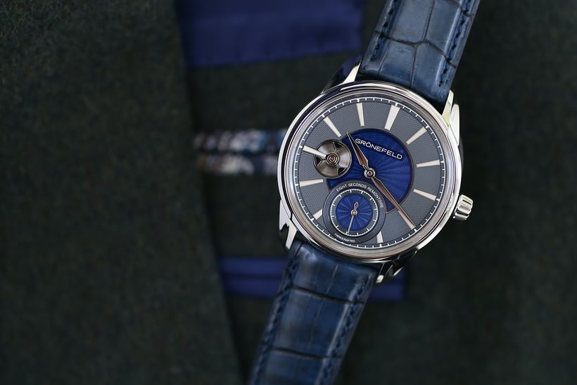 The latest Grönefeld 1941 Remontoire, in stainless steel and now with bespoke dials.
