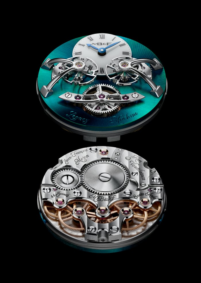 Legacy Machine 2 titanium movement and dial