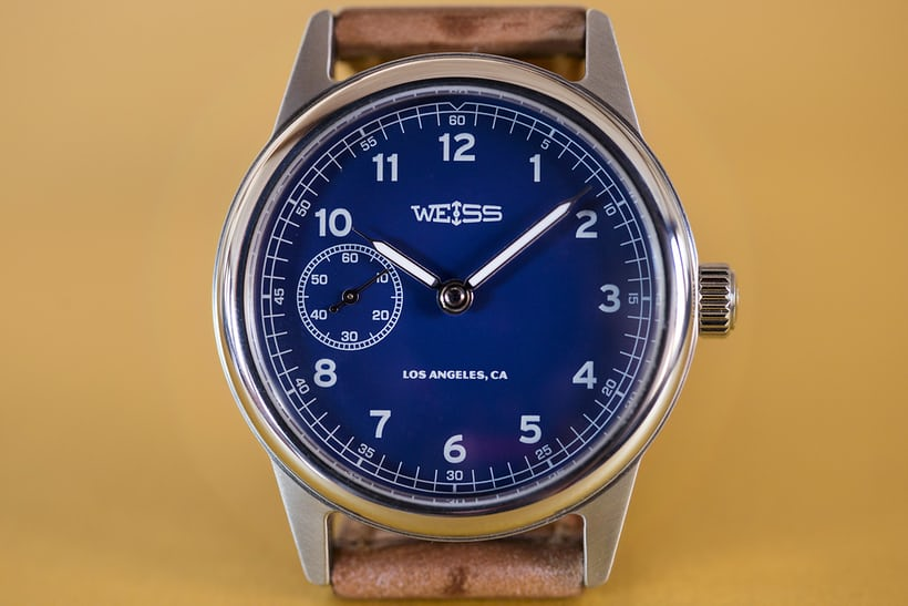 Weiss 38mm Automatic Issue Field Watch blue dial