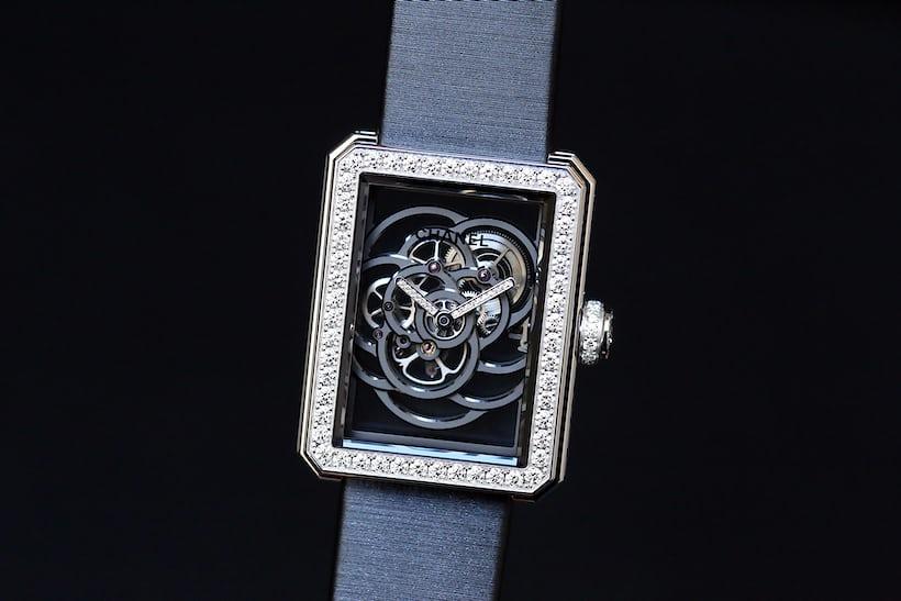 Chanel Première Camélia Skeleton Watch ADLC