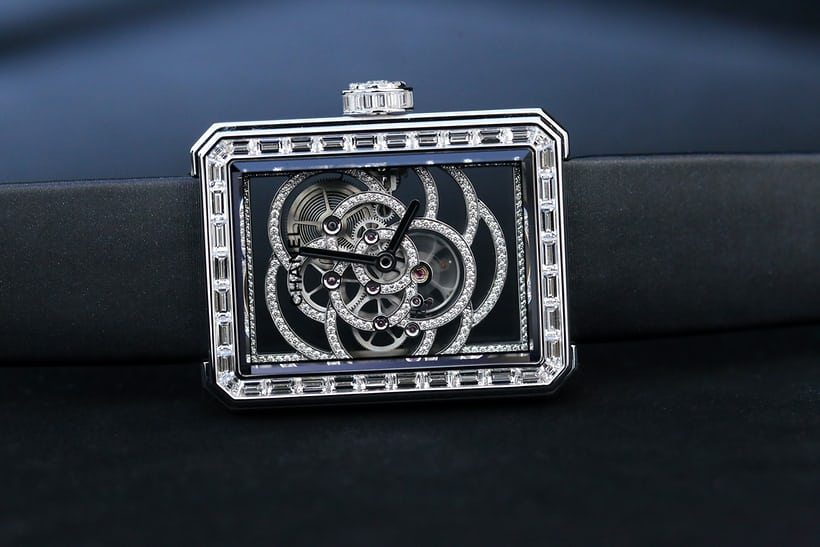 Chanel Première Camélia Skeleton Watch diamond version