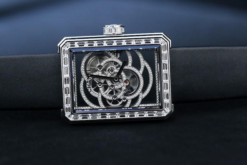 Chanel Première Camélia Skeleton Watch diamond version