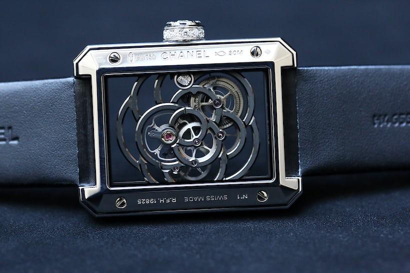 Chanel Première Camélia Skeleton calibre 2 movement view