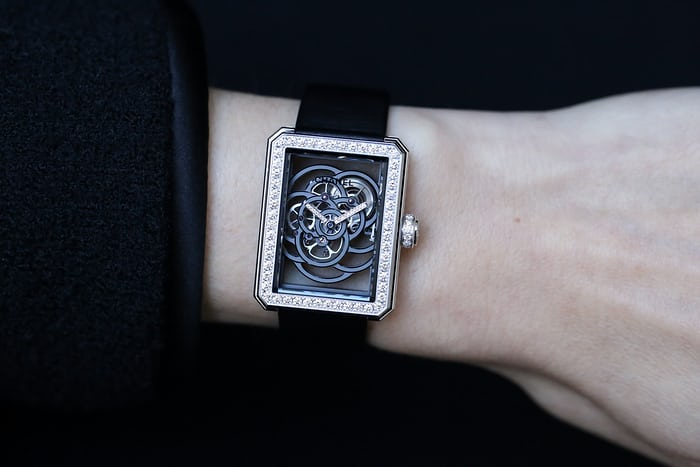 Chanel Première Camélia Skeleton Watch diamond hands adlc movement