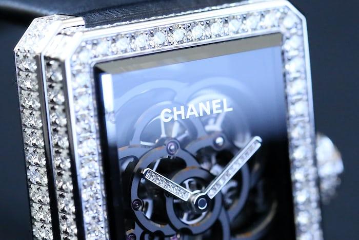 Chanel Première Camélia Skeleton case