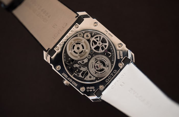 Bulgari Octo Finissimo Skeleton Tourbillon caseback