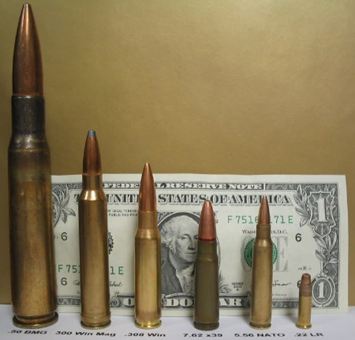 comparison of different rifle rounds