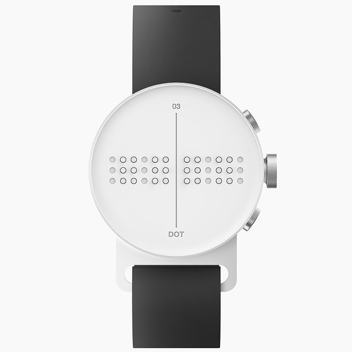 face clocks numbers large unisex and gold white shop blinds watches vision watch foundation print with chrome low for contrast category black a blind high