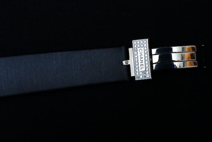 Chanel Première Camélia Skeleton Watch diamond clasp deployant