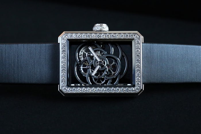Chanel Première Camélia Skeleton Watch