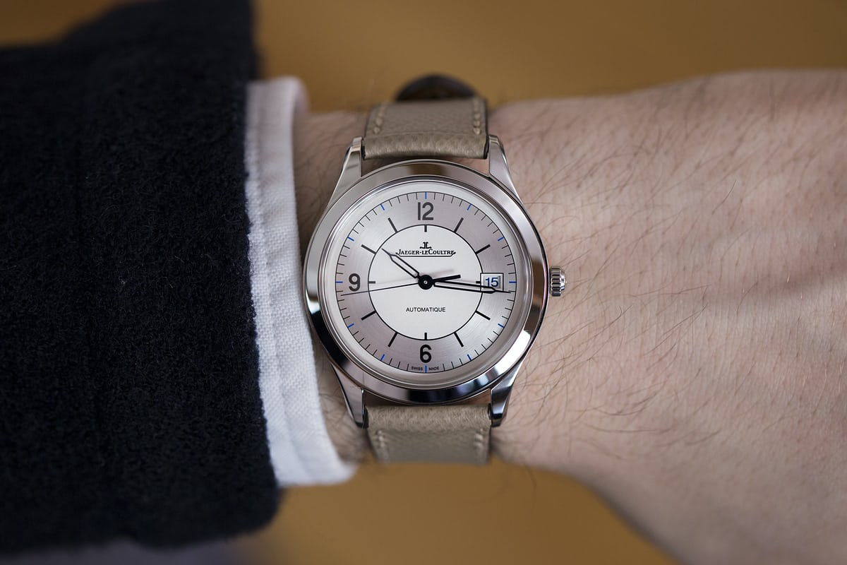 jaeger lecoultre master control date sector dial wristshot