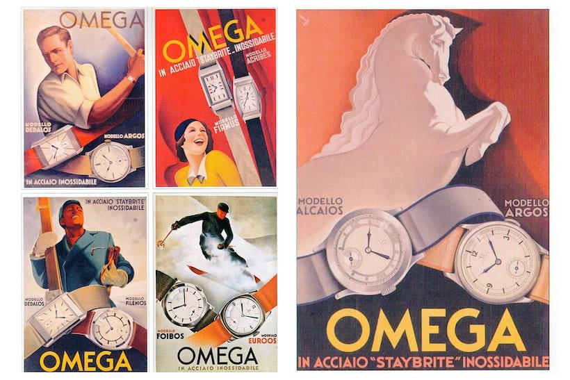 vintage omega ads sector dial