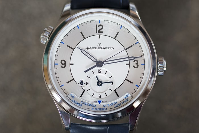 jaeger-lecoultre geographic master control sector dial