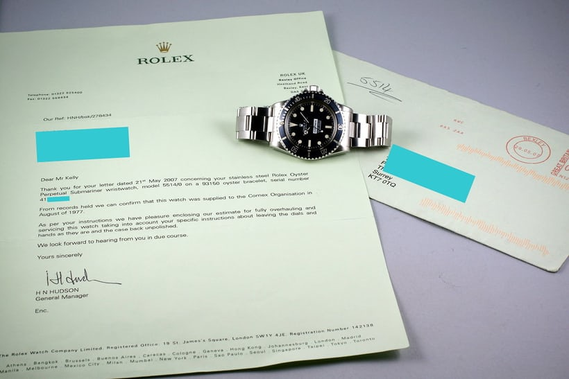 Rolex Comex Papers