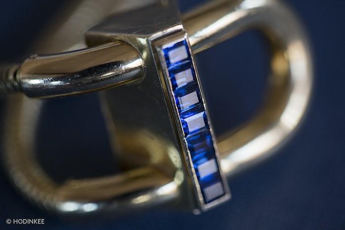 serti invisible sapphire cadenas watch van cleef arpels