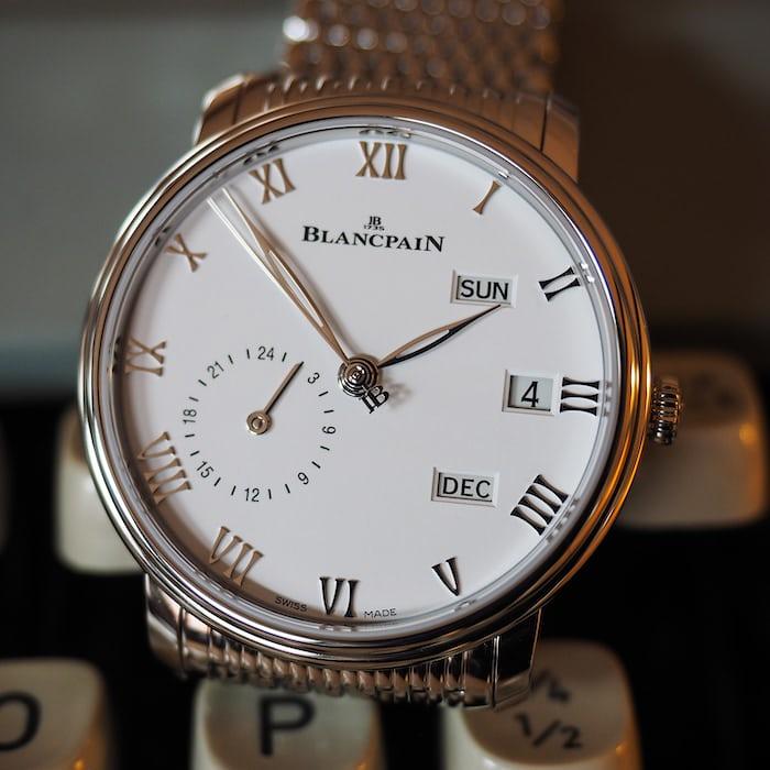 Blancpain Annual Calendar GMT dial closeup