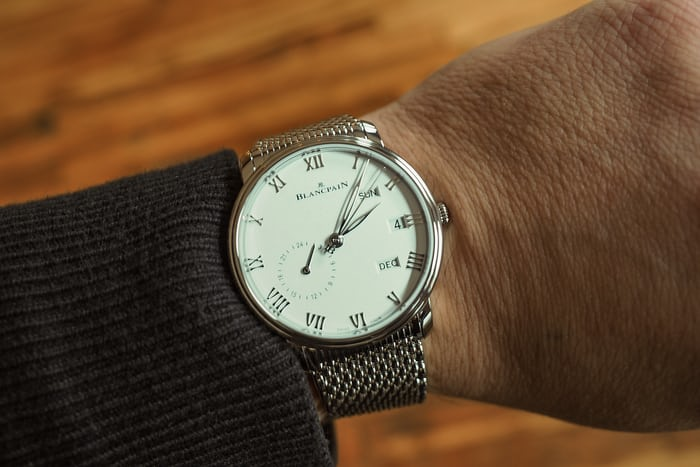 Blancpain annual calendar GMT wrist shot