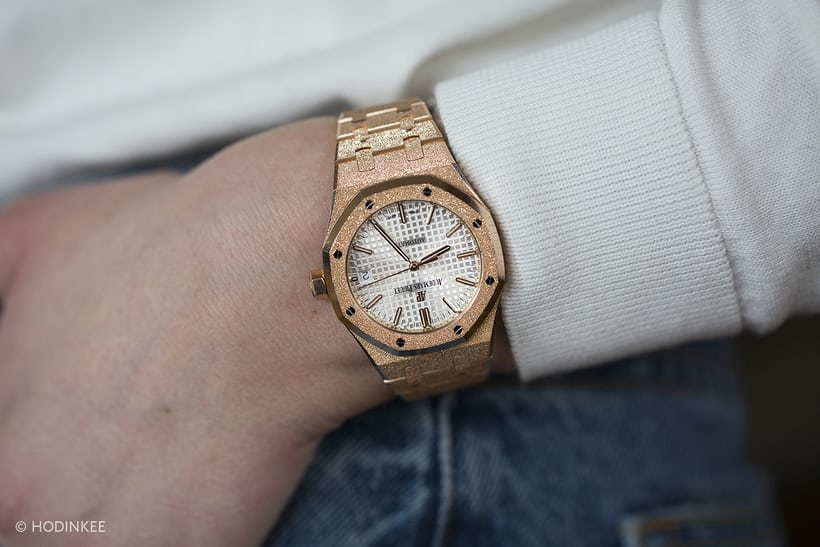 audemars piguet frosted gold 37mm