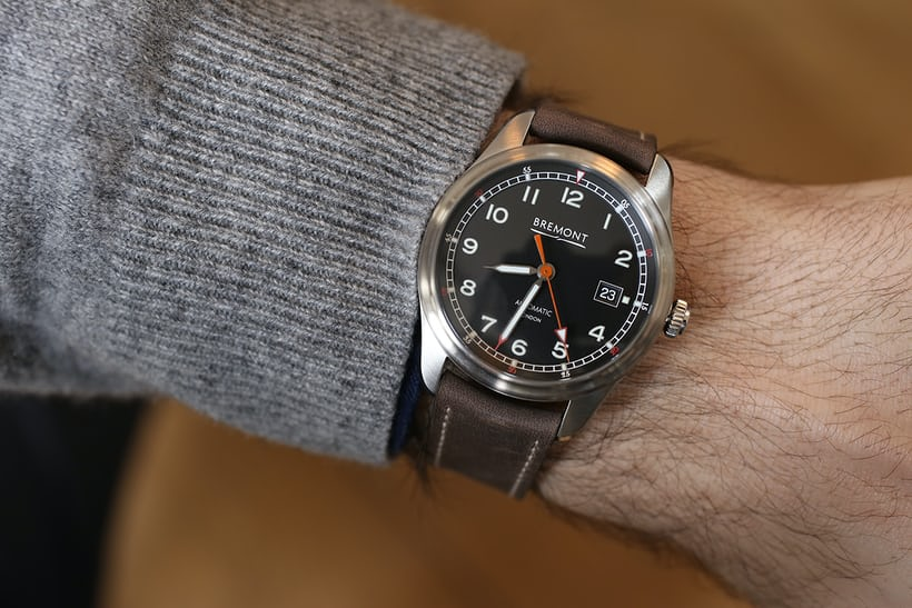 The Airco is also the smallest Bremont pilot to date, at 40mm.