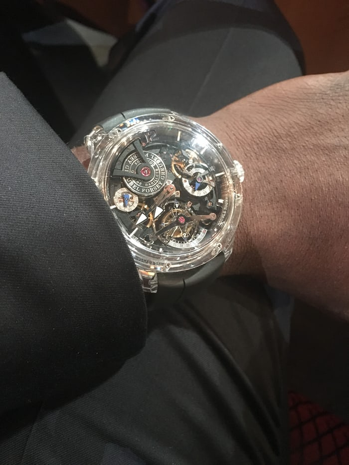 aldis hodge Greubel Forsey Double Tourbillon 30° Technique Sapphire