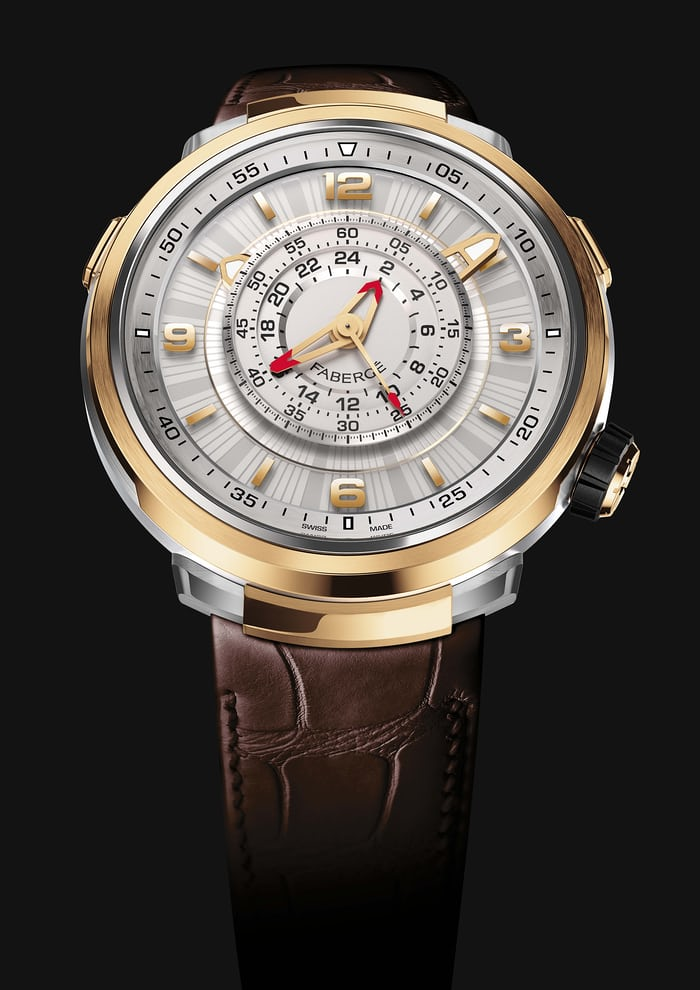 The Visionnaire Chronograph is a central counter chronograph, that can record intervals of up to 24 hours.