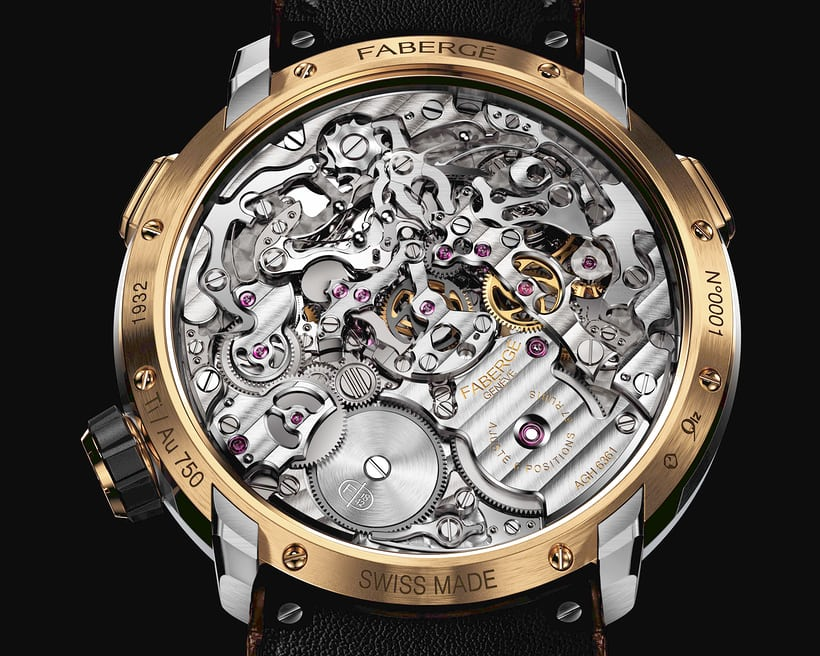 The AgenGraph cal. 6361, inside the Fabergé Visionnaire Chronograph.