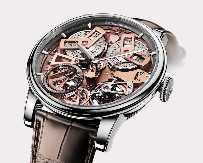 The Arnold & Son Tourbillon Chronometer is a relatively rare example of a chronometer certified tourbillon wristwatch.