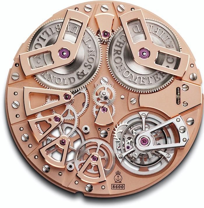 Arnold & Son Tourbillon Chronometer no. 36 movement dial side