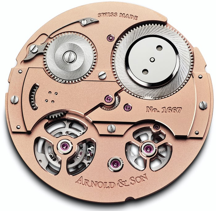 Arnold & Son Tourbillon Chronometer no. 36 top plate