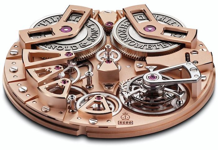 Arnold & Son Tourbillon Chronometer no. 36 movement elevation